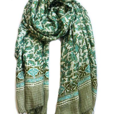 bufanda batik de seda hecho a mano productos de Indonesia