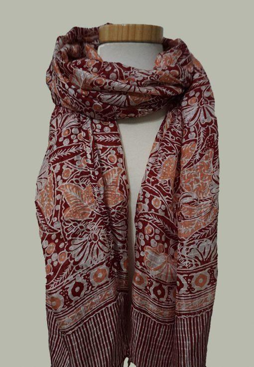 Bufanda batik Indonesia de seda